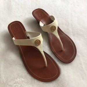 Tory Burch Cameron Patent Thong Wedge Sandal 11